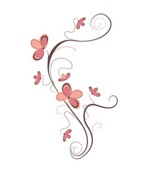 Isolated vector illustration with flowers and elegant ornaments