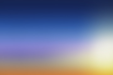 Blue to orange Sky gradient sunset background