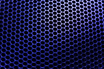 Background texture of blue lattice in backlight.