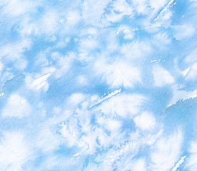 Seamless sky blue background pattern painted in watercolor