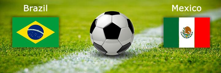 Fussball - Brasilien gegen Mexiko