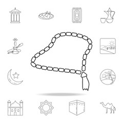 beads icon. Detailed set of Arab culture icons. Premium graphic design. One of the collection icons for websites, web design, mobile app