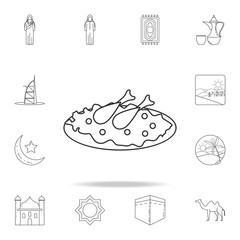 Arabic cuisine icon. Detailed set of Arab culture icons. Premium graphic design. One of the collection icons for websites, web design, mobile app