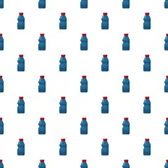Plastic bottles of cleaning product pattern seamless repeat in cartoon style vector illustration
