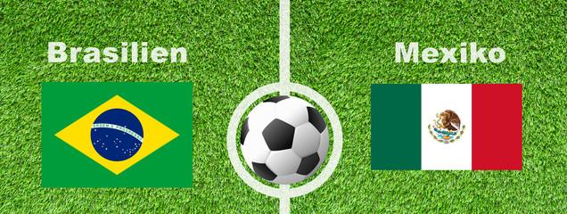 Fußball Achtelfinale - Brasilien gegen Mexiko