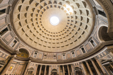 Interior of the Pantheon of Rome