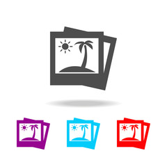 picture of palm trees icon. Elements of travel in multi colored icons. Premium quality graphic design icon. Simple icon for websites
