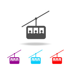 Funicular , cable car line icon. Elements of travel in multi colored icons. Premium quality graphic design icon. Simple icon for websites