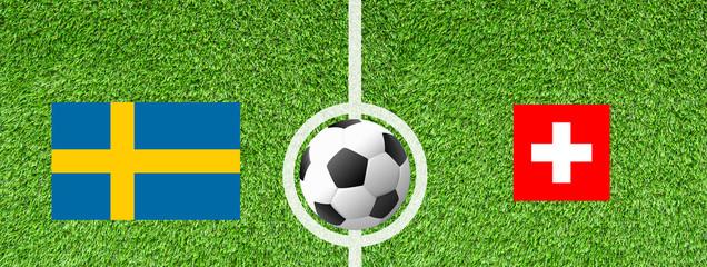 Fußball Achtelfinale - Schweden gegen Schweiz