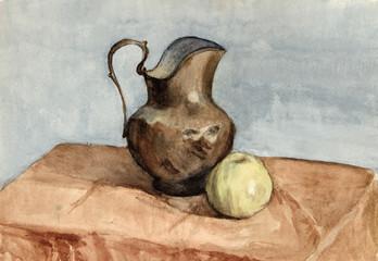 watercolor, still life