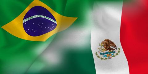 ブラジル メキシコ  国旗 サッカー