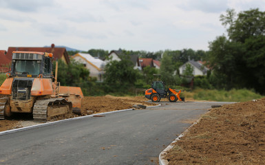 Preparation for the construction of a new residential village.