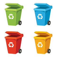 Vector Illustration Of Recycling Bin
