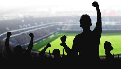 Fotoväggar - Fans im Fussball Stadion