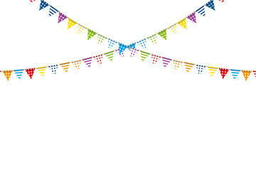 Illustration material: colorful triangle flag · party flag   dot print,vector data