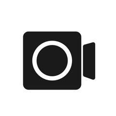 video recording social media vector icon