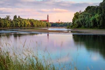 Blick auf Straubing / Donau / Niederbayern