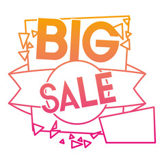 degraded line big buy sale discount tag