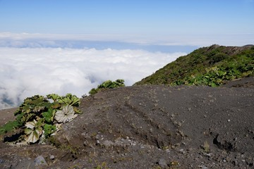 White clouds below Irazu Volcano, Cartago Province, Costa Rica