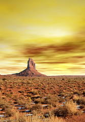 Wall Mural - Sunset Skies Monument Valley