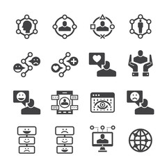 User experience icon set