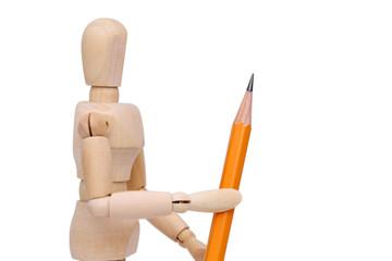 鉛筆 文房具 デッサン人形