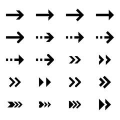 Collection of modern arrows vector icon