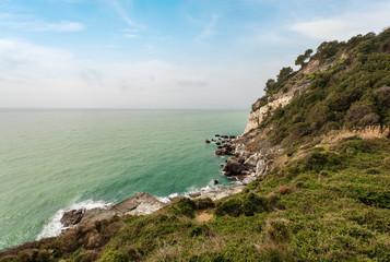 Cliffs in the Gulf of La Spezia - Punta Bianca Italy