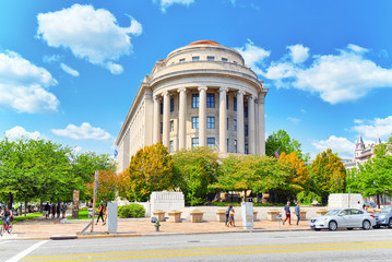 Washington, USA, urban cityscape of the city. Federal Trade Commission, 600 Pennsylvania Ave NW.