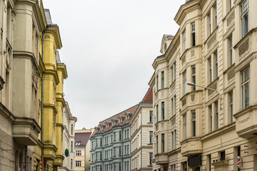 Old tenement houses in Ostrava, the Czech Republic