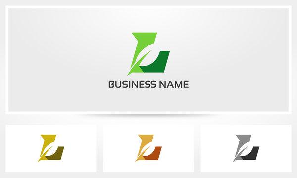 Letter L Leaf Environment Natural Logo