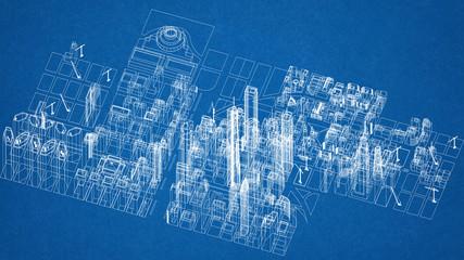 City blueprint photos royalty free images graphics vectors city concept architect blueprint malvernweather Choice Image