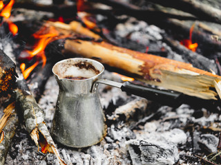Coffee Turk Metal in the flames