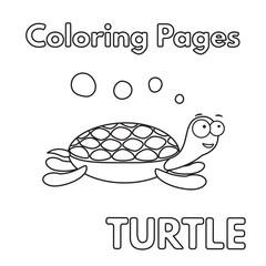 Cartoon Turtle Coloring Book