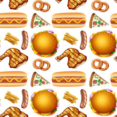 Pattern of different fast food
