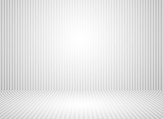 Abstract white and gray wall room background with space platform backdrop gray line.