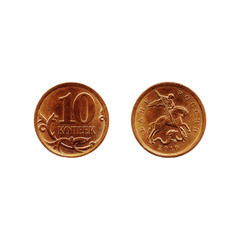 coins isolated on a white background are suitable for decoration or design purposes