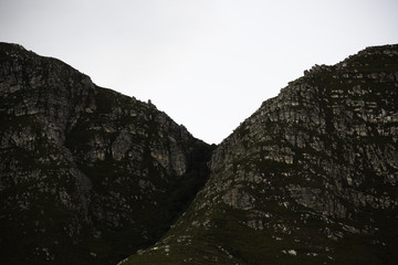 Narrow Mountain Pass Densely Covered In Trees