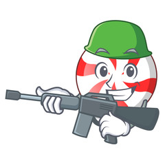 Army peppermint candy character cartoon