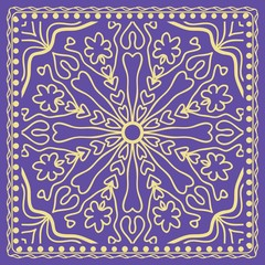 Floral pattern. vector illustration. hand drawn henna india tribal paisley background