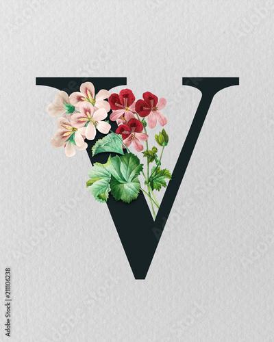 Vintage floral monogram letter v initials botanical art print logo vintage floral monogram letter v initials botanical art print logo thecheapjerseys Gallery