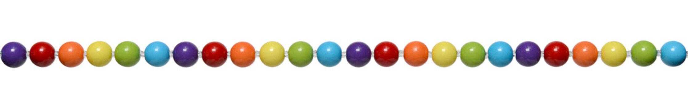 Colored bead isolated