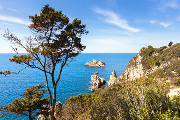 Corfu Island sea view