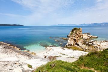 Kanoni beach in Corfu island