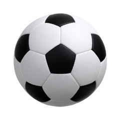Foto op Plexiglas Bol soccer ball on white