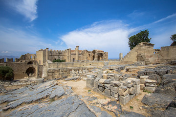 Fortress of Lindos, Rhodes, Greece