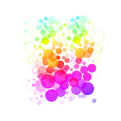 Watercolor colorful bubbles. Circles seamless pattern. Colorful round shapes abstract background. Vector illustration.