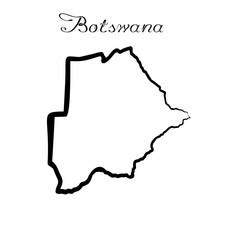 the Botswana map