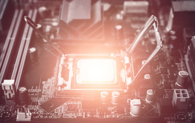cpu power installed in socket and power light process