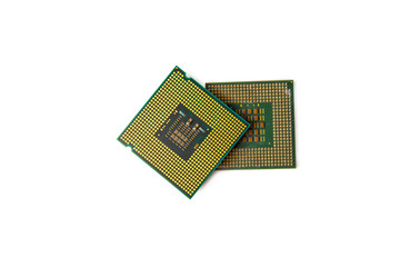 isolated CPU on white background